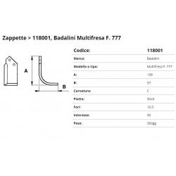 Zappa tipo BADALINI Int. 30 F. 10,5 P. 50x6 C