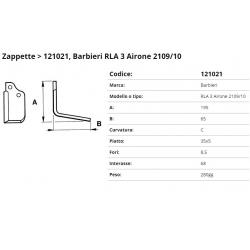 Zappa tipo BARBIERI  Int.68 F. 8,5   P. 35x5 C