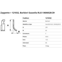 Zappa tipo BARBIERI Int. 68 F.10,5 P.  40x5 C