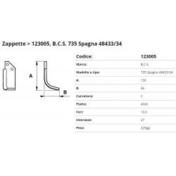 Zappa tipo BCS Int. 27  F.10,5 P.40x6 C