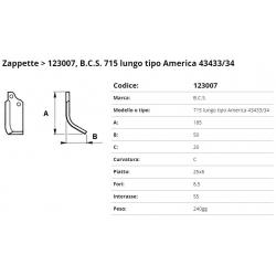 Zappa tipo BCS Int. 55  F.  8,5 P.25x6 C