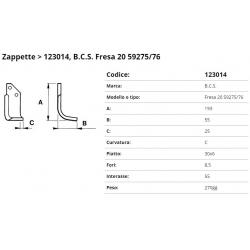 Zappa tipo BCS Int. 55  F.  8,5 P.30x6 C