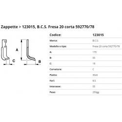 Zappa tipo BCS Int. 55  F.  8,5 P. 30x6 C