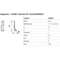 Zappa tipo BENASSI Int. 68 F.  8,5 P. 30x5 C