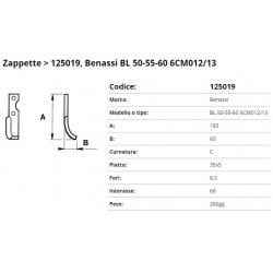 Zappa tipo BENASSI Int. 68 F. 8,5  P.35x5 C