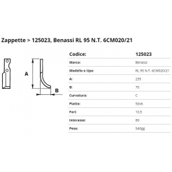 Zappa tipo BENASSI Int. 80 F.10,5 P. 50x6 C*