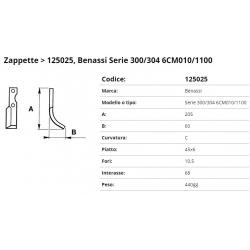 Zappa tipo BENASSI Int. 68 F.10,5 P. 45x6 C