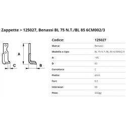 Zappa tipo BENASSI Int. 68 F.  8,5 P. 40x5 C