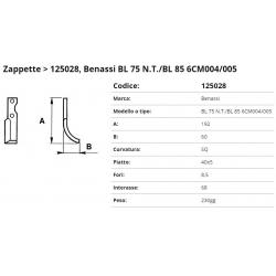 Zappa tipo BENASSI Int. 68 F.  8,5 P. 40x5 SQ