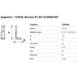 Zappa tipo BENASSI Int. 68 F.  8,5 P. 30x4 SQ