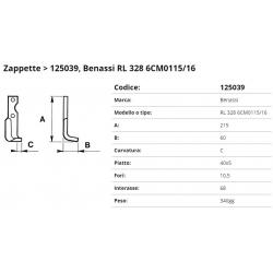 Zappa tipo BENASSI Int. 68 F.10,5 P. 40x5 C