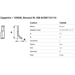 Zappa tipo BENASSI Int. 68 F 10,5 P. 40x6 C