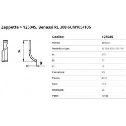 Zappa Tipo BENASSI int. 68 F. 10.5 P.40x6 SQ