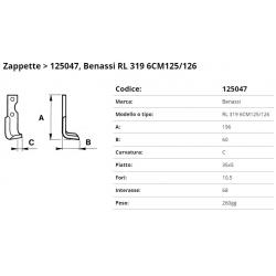 Zappa tipo BENASSI Int. 68 F.10,5 P. 35x5 C
