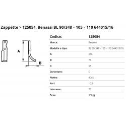 Zappa tipo BENASSI Int. 70 F. 10,5 P.40x5 C =  331025 zappa/04