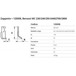 Zappa tipo BENASSI Int. 50  F. 8,5  P.30x5 C