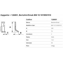 Zappa tipo BERTOLINI Int. 58 F. 10,5 P. 30x8 C