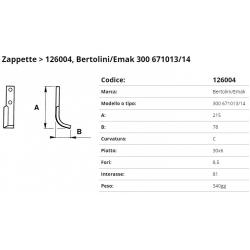 Zappa tipo BERTOLINI Int. 81 F.  8,5  P.30x6 C