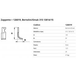 Zappa tipo BERTOLINI Int. 28 F.10,5  P 50x6 C