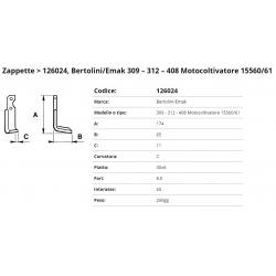 Zappa tipo BERTOLINI Int. 55 F.  8,5  P.30x6 C