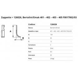 Zappa tipo BERTOLINI Int. 55  F. 8,5  P. 30x6 C