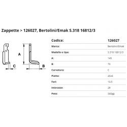 Zappa tipo BERTOLINI Int. 28 F.10,5  P.45x6 C