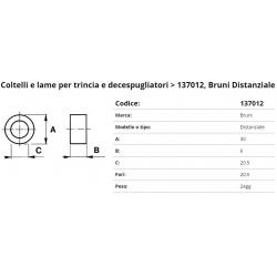 Zappa tipo BRUNI x trincia F. 12.5 P. E30-L6