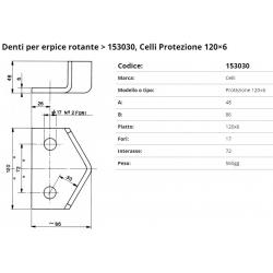 Zappa tipo CELLI Dente Int. 72 F.17    P.120x6