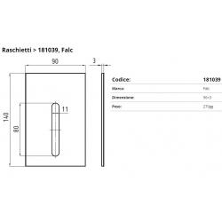 Raschietto FALC F. 11x80  P. 90x3