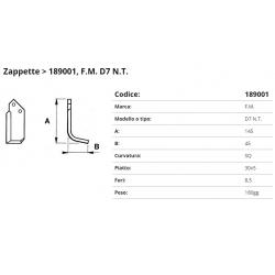 Zappa tipo F.M.  F.  8,5 P. 30x5 SQ