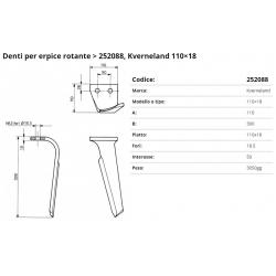 Zappa tipo MALETTI KEV Dente Int. 50   F. 18.5 P. 110x18