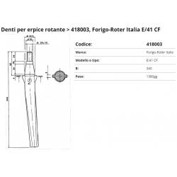 Zappa tipo FORIGO Dente E/41 P. 37.5