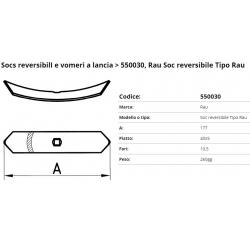 Zappa tipo SOCS tipo RAU F. 10.5 P. 40x5