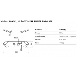 SOCS 2 punte piatto per coltiv. Int. 45/50 F. 12.5x17.5 P. 60x12
