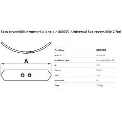 SOCS Revers. 2 Fori Int. 45 F. 13.5 P. 70x10