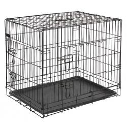 gabbia per cani 107x74x85 cm 2 porte