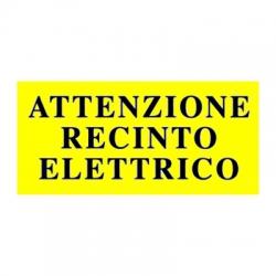 Cartello avvertimento per recinti elettrici