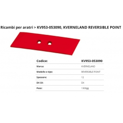 Vomere/21 kev Int. 40 F. 14.5 P. 65x12x260 (053090) DX