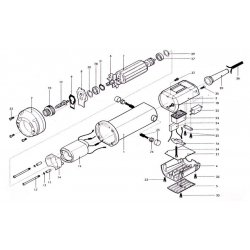 carcassa post. super. nera (motore) Fig.3