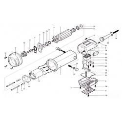carcassa posteriore inf. nera (motore) Fig.4