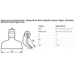 Mazze EM06-16 F. 16.5 (Maschio)