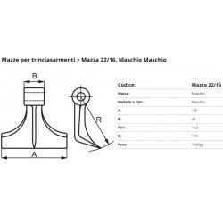 Mazze EM22-16 F. 16.5 (Maschio)(24004025)
