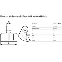 Mazze EM48-16 F. 16,5 (Meritano)