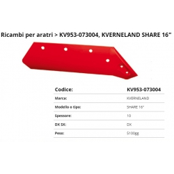 """Vomere Tipo Kewerland Share16"""" DX (073004)"""