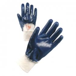 Guanto in jersey NBR blu, polsino areato Tg 8