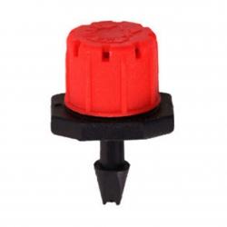 Gocciolatore regolabile 0 - 80lt/h innesto rosso