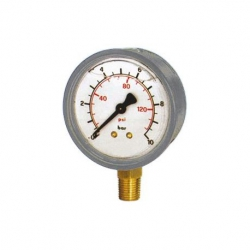 Manometro Gl. D.63R  0.6B 1/4 Gas Cassa Inox