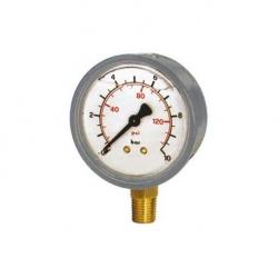 Manometro Gl. D.63R  16B 1/4 Gas Cassa Inox