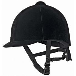 Casco equitazione in velluto nero mis. 52