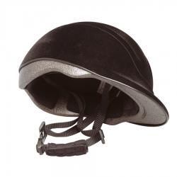 Casco equitaz. nero lucido regolabile 52-56